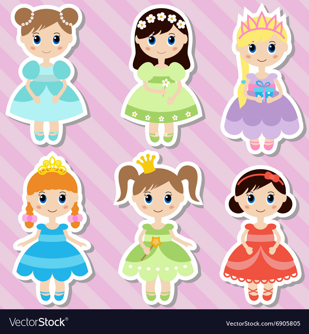 Beautiful princesses vector