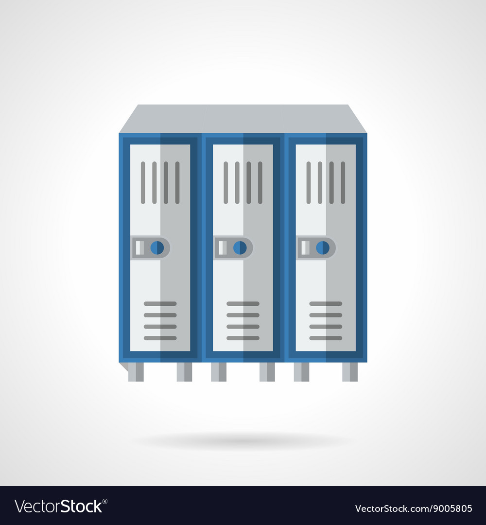 Furniture for locker rooms flat color icon vector