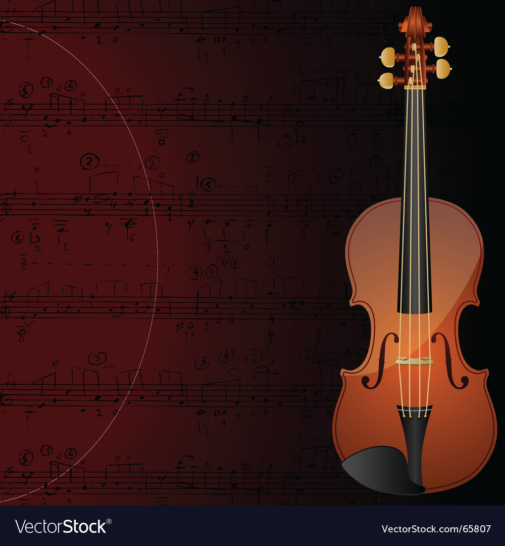 Violin background vector