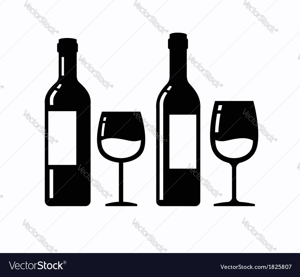 Wine icons vector