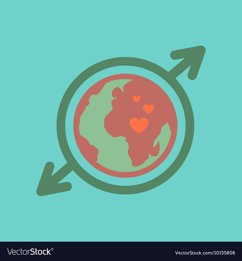 Flat icon on stylish background earth gays symbol vector