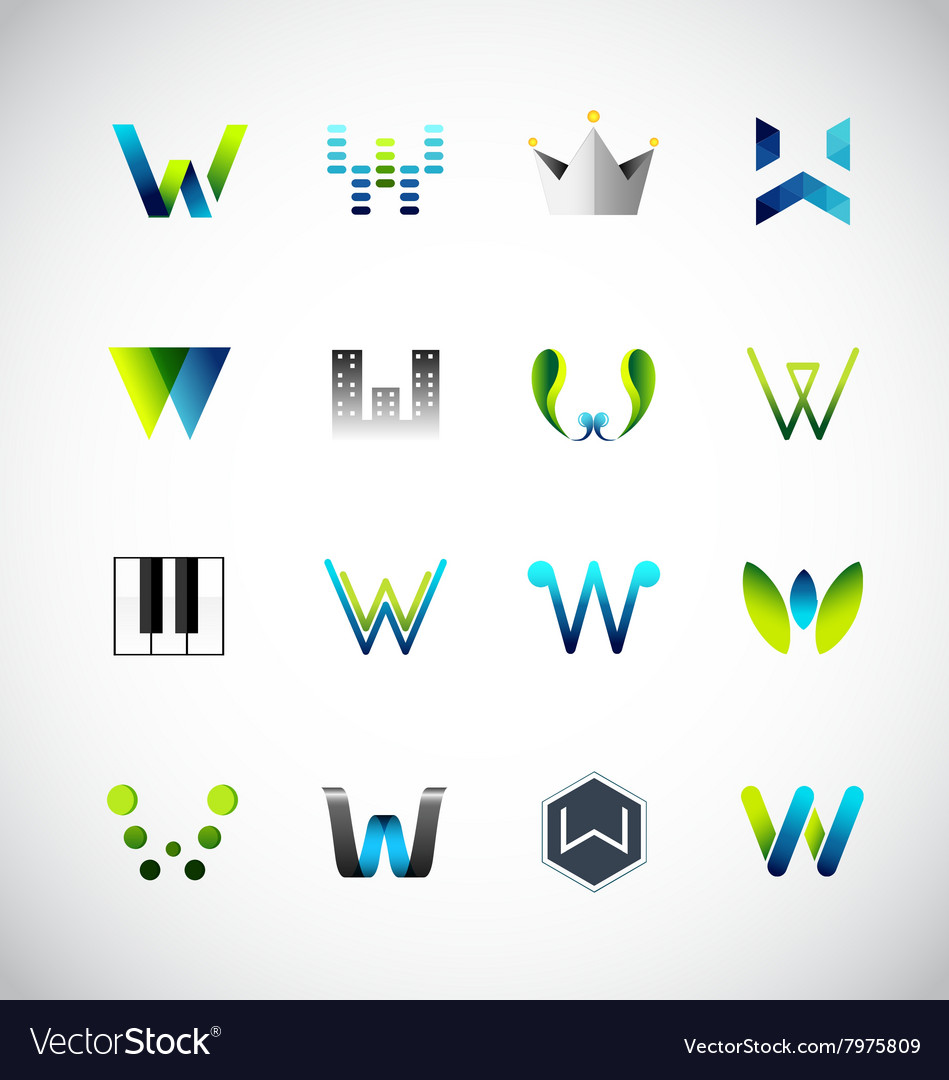 Icon design based on letter w vector