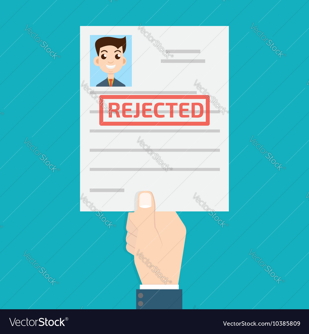 Rejected paper vector