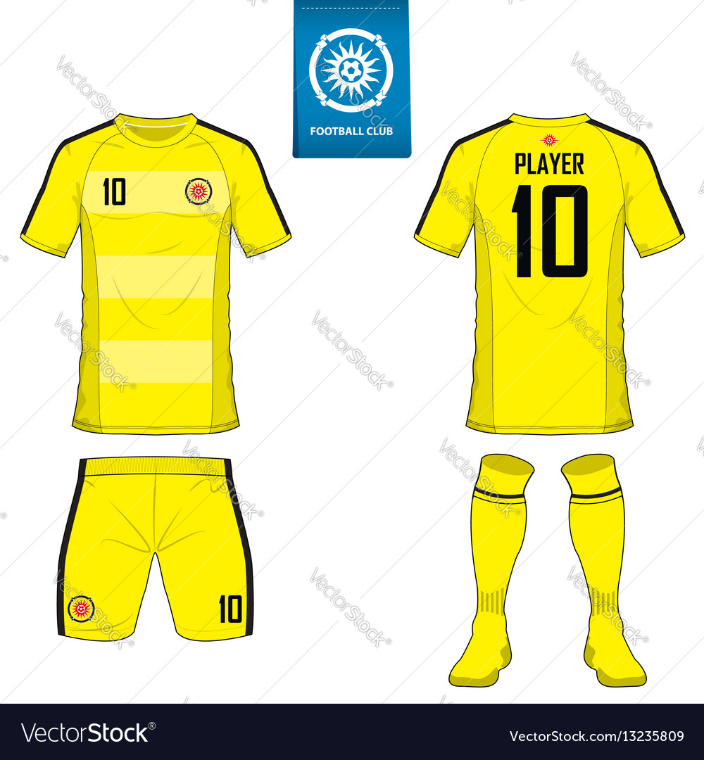 Set of soccer kit or football jersey template vector
