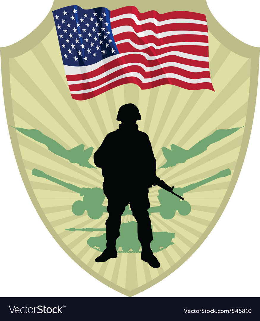 Army of usa vector