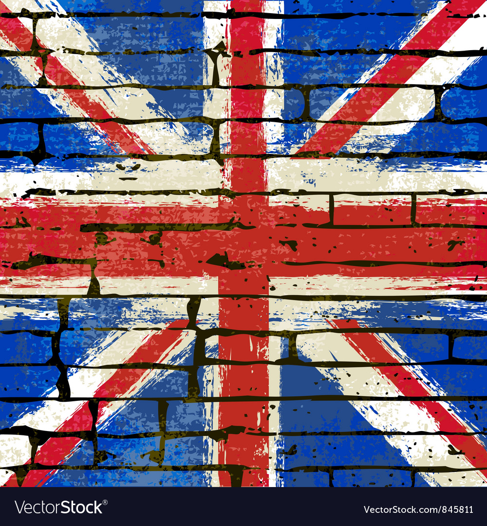 Union jack wall vector