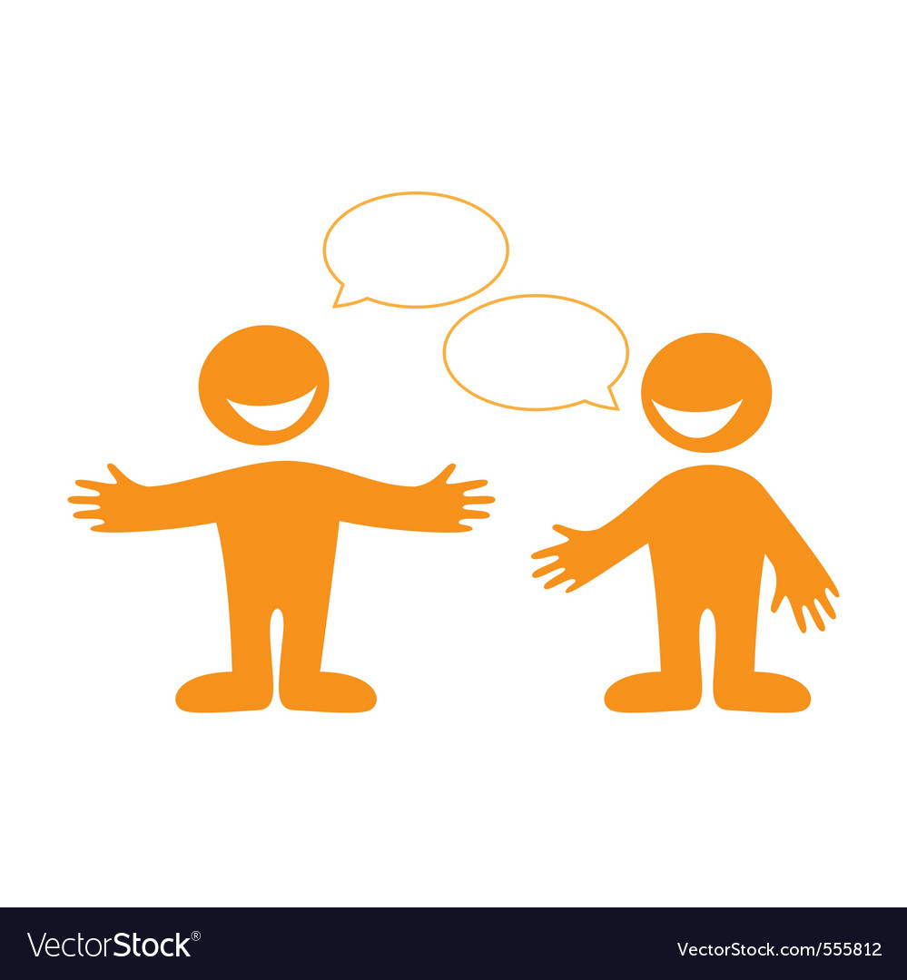 Conversation people vector