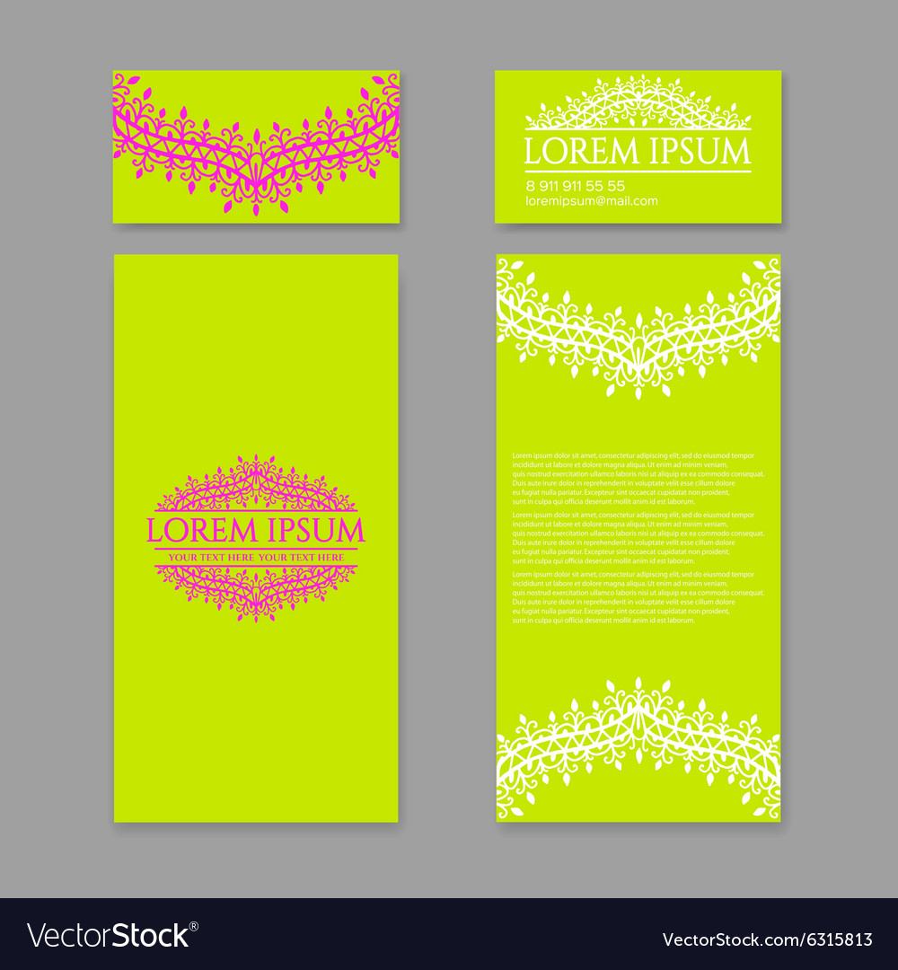 Floral pattern design template may be used for vector
