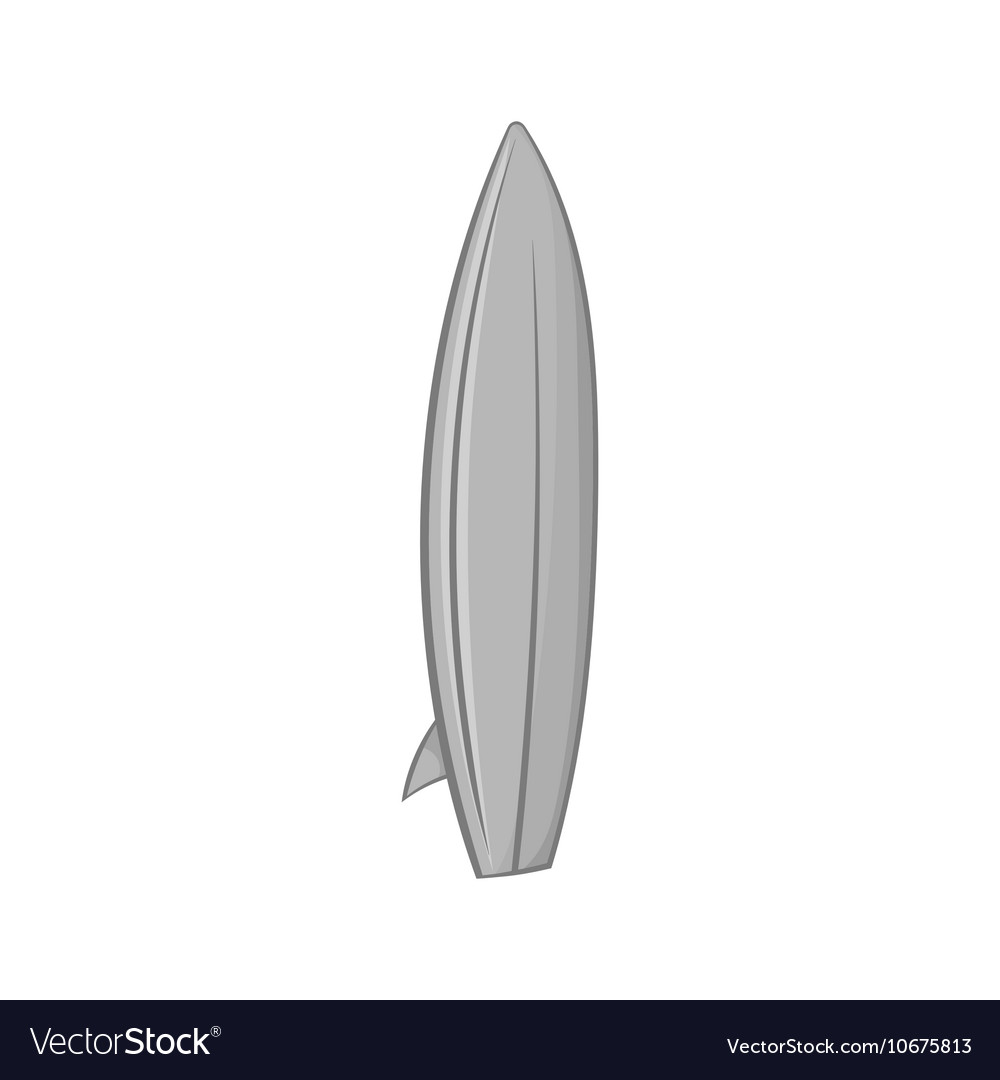 Surfboard icon black monochrome style vector