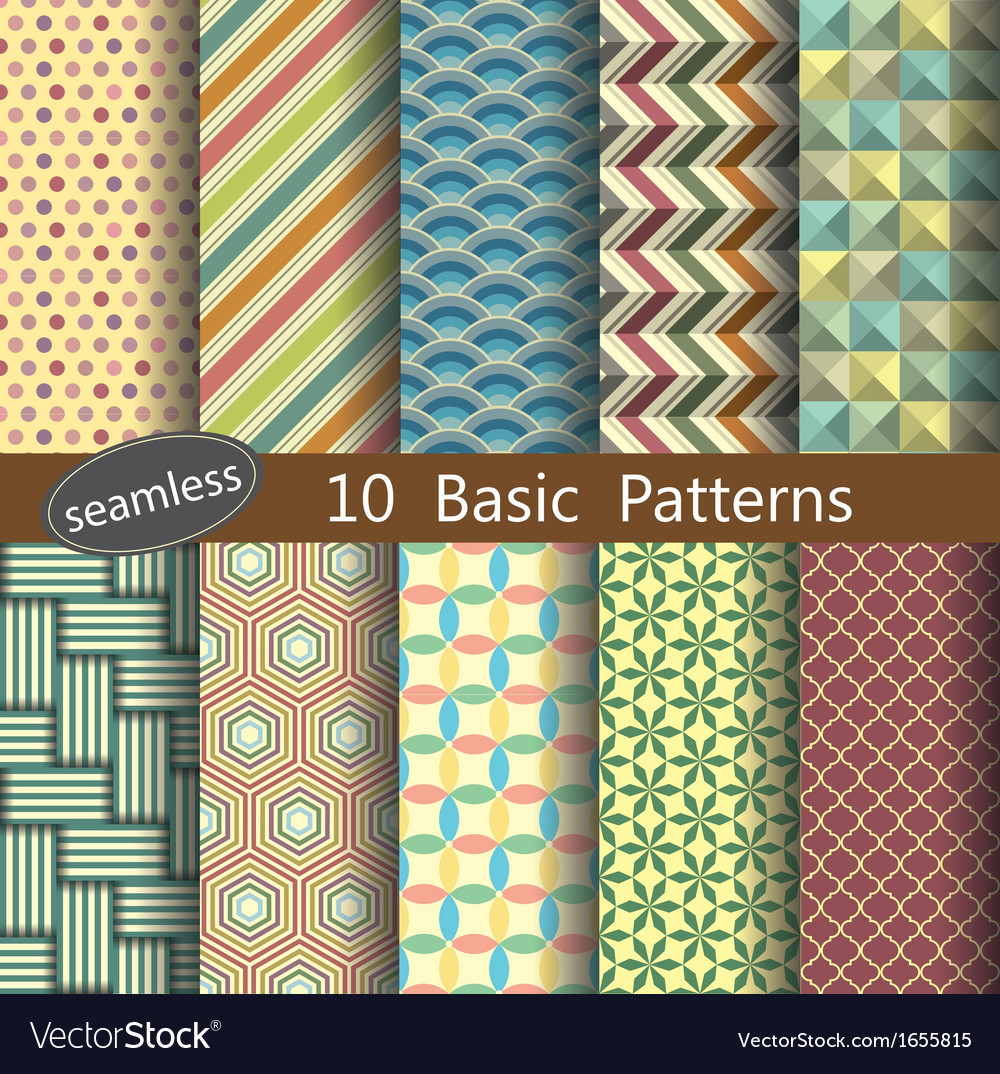 Basic pattern unit collection 1 vector
