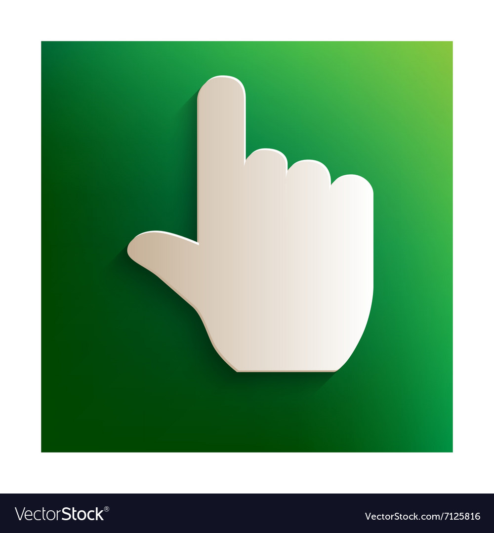 Hand sign icon vector