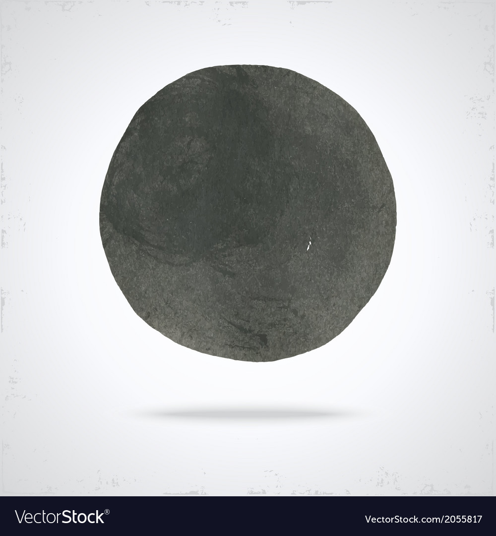 Grunge paint circle vector