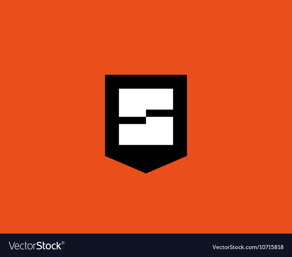 Abstract letter s shield logo design template vector
