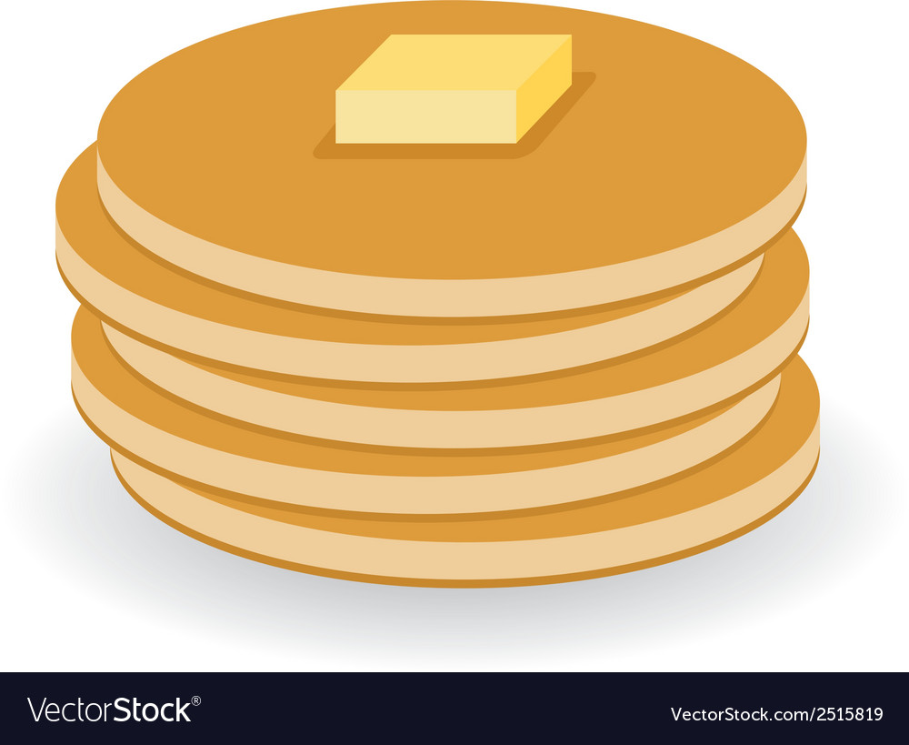 Pancakes with butter vector