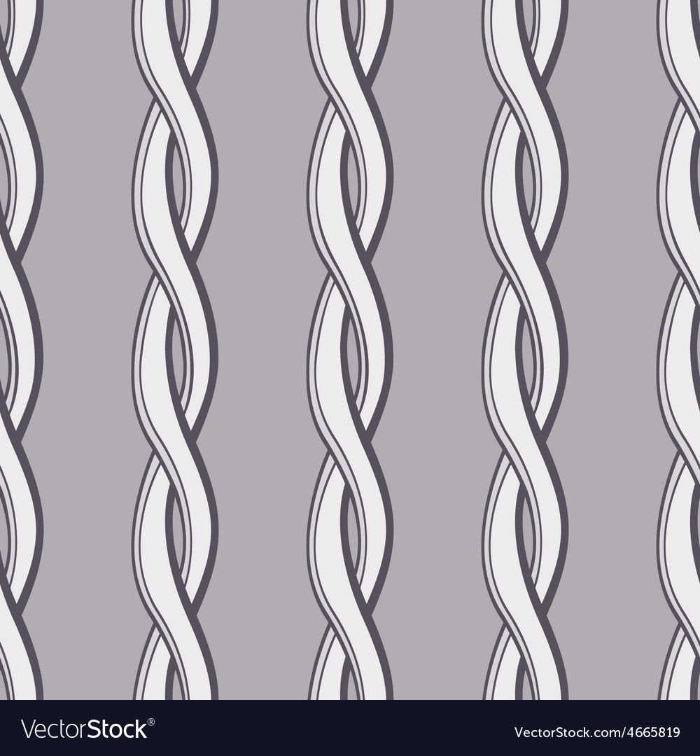 Seamless twisted pattern vector