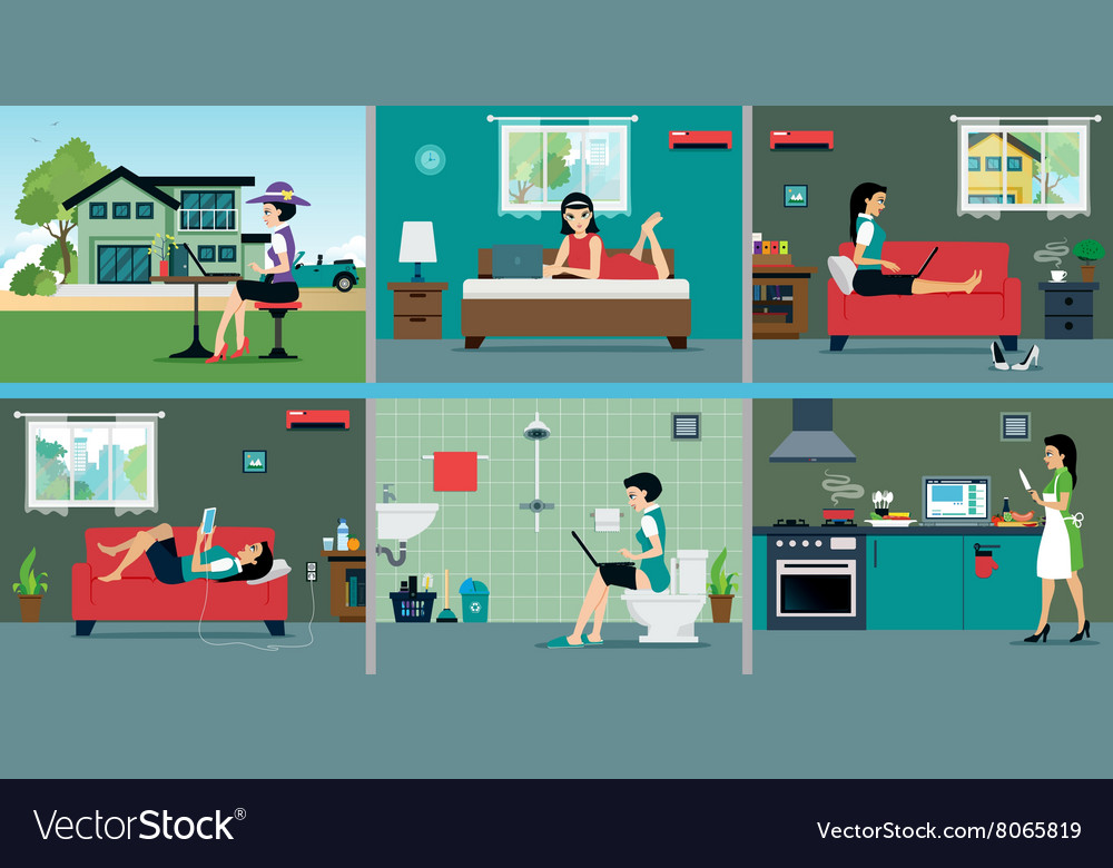 Technology and communication vector