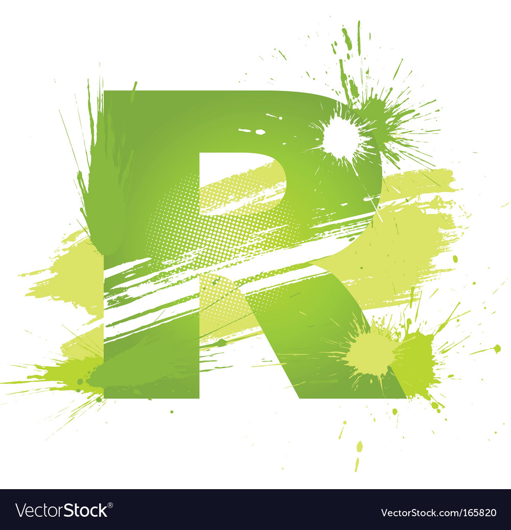 Letter r background vector