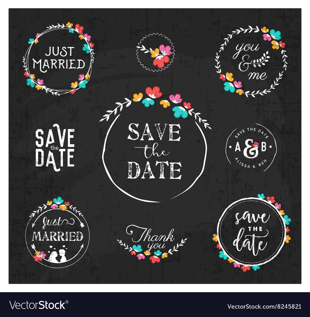 Wedding design elements for invitations vector