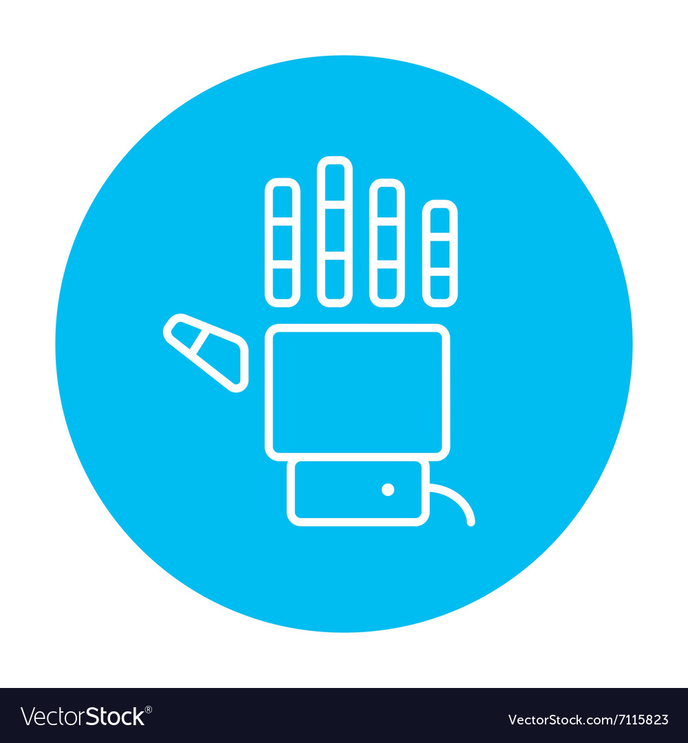 Robot hand line icon vector