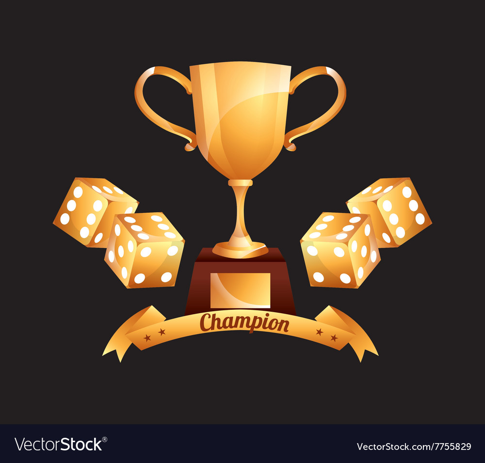 Casino club design vector