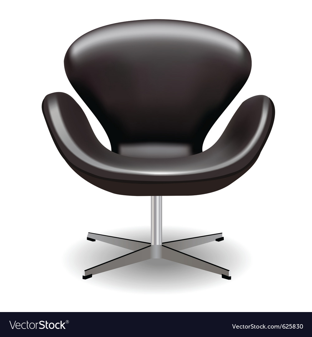 Swan chair vector