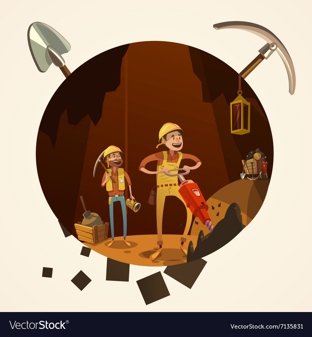Mining cartoon vector