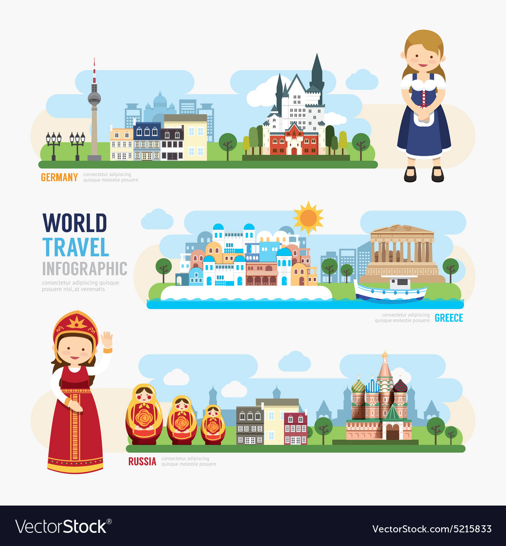 Travel and outdoor europe landmark template design vector