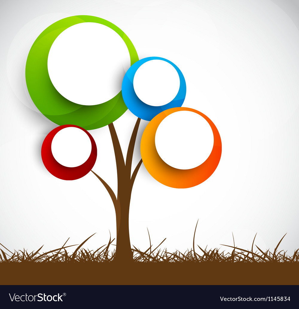 Background with abstract tree vector
