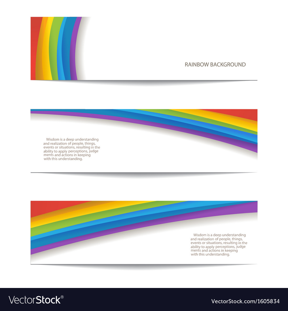 Set of rainbow background vector