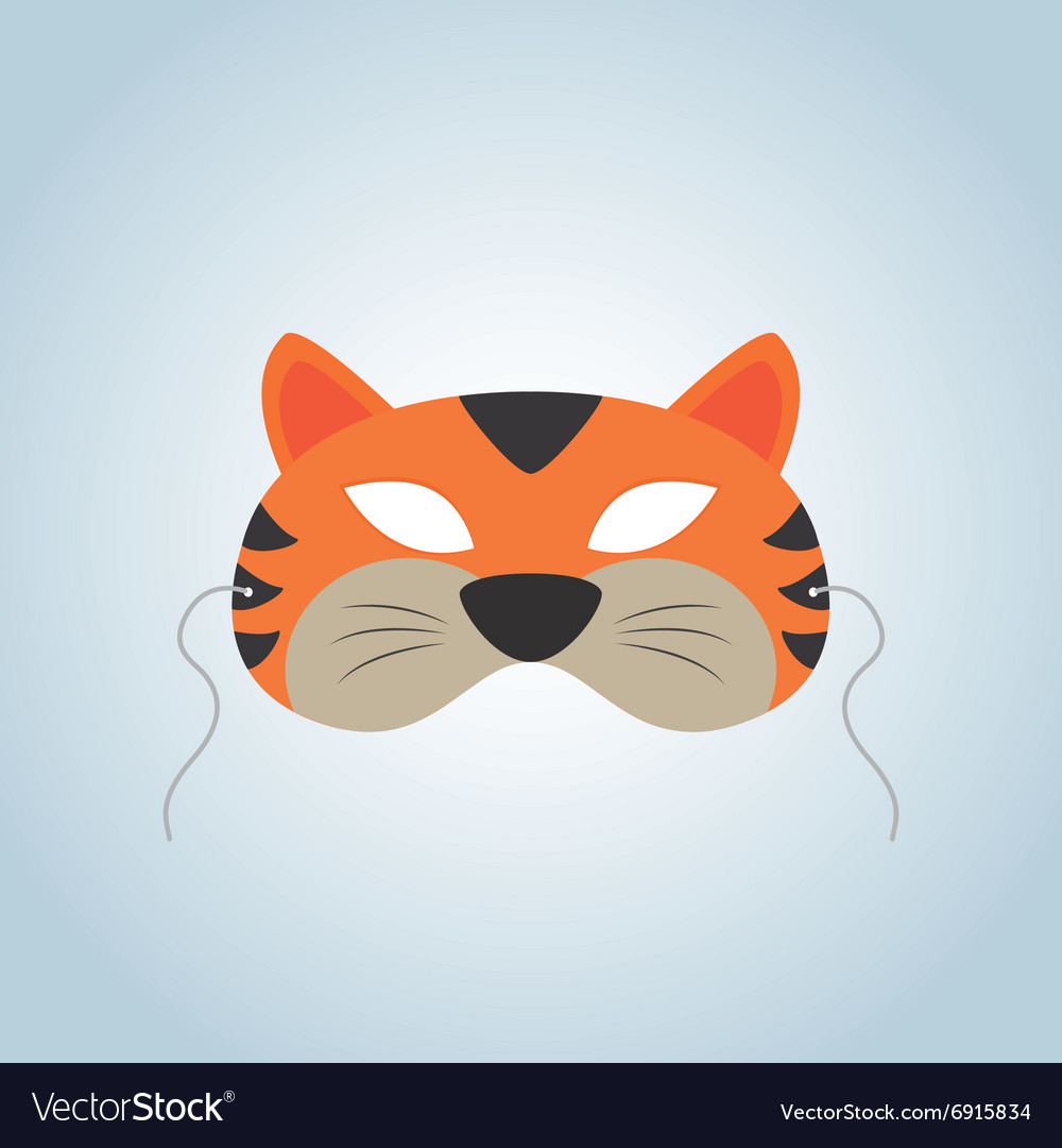 Tiger mask vector