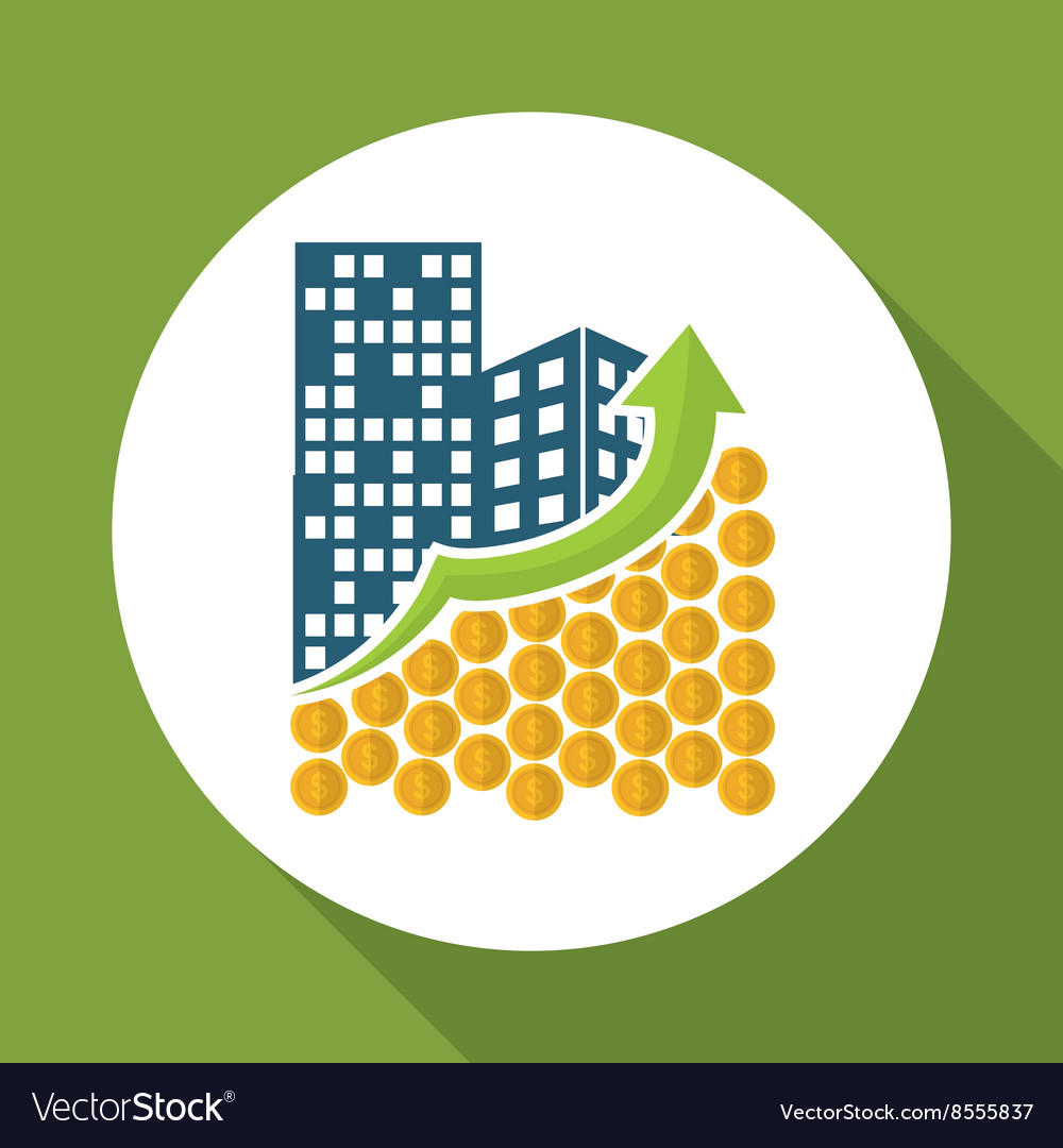 Flat of profit design editable vector