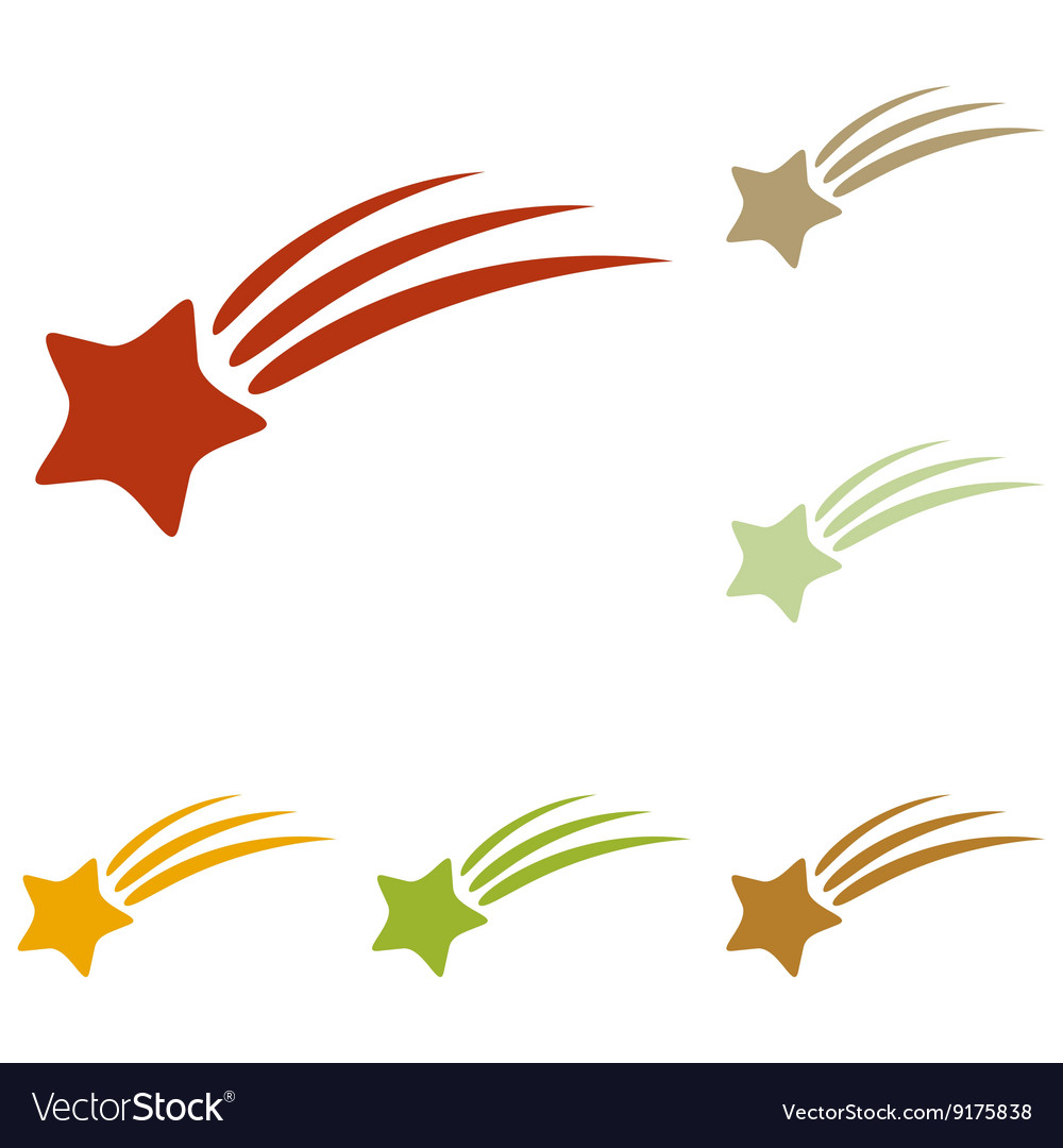 Shooting star sign vector