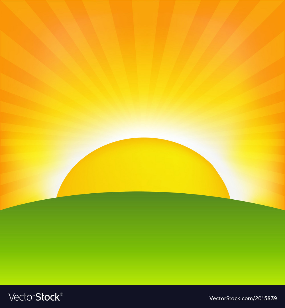 Sunrise vector