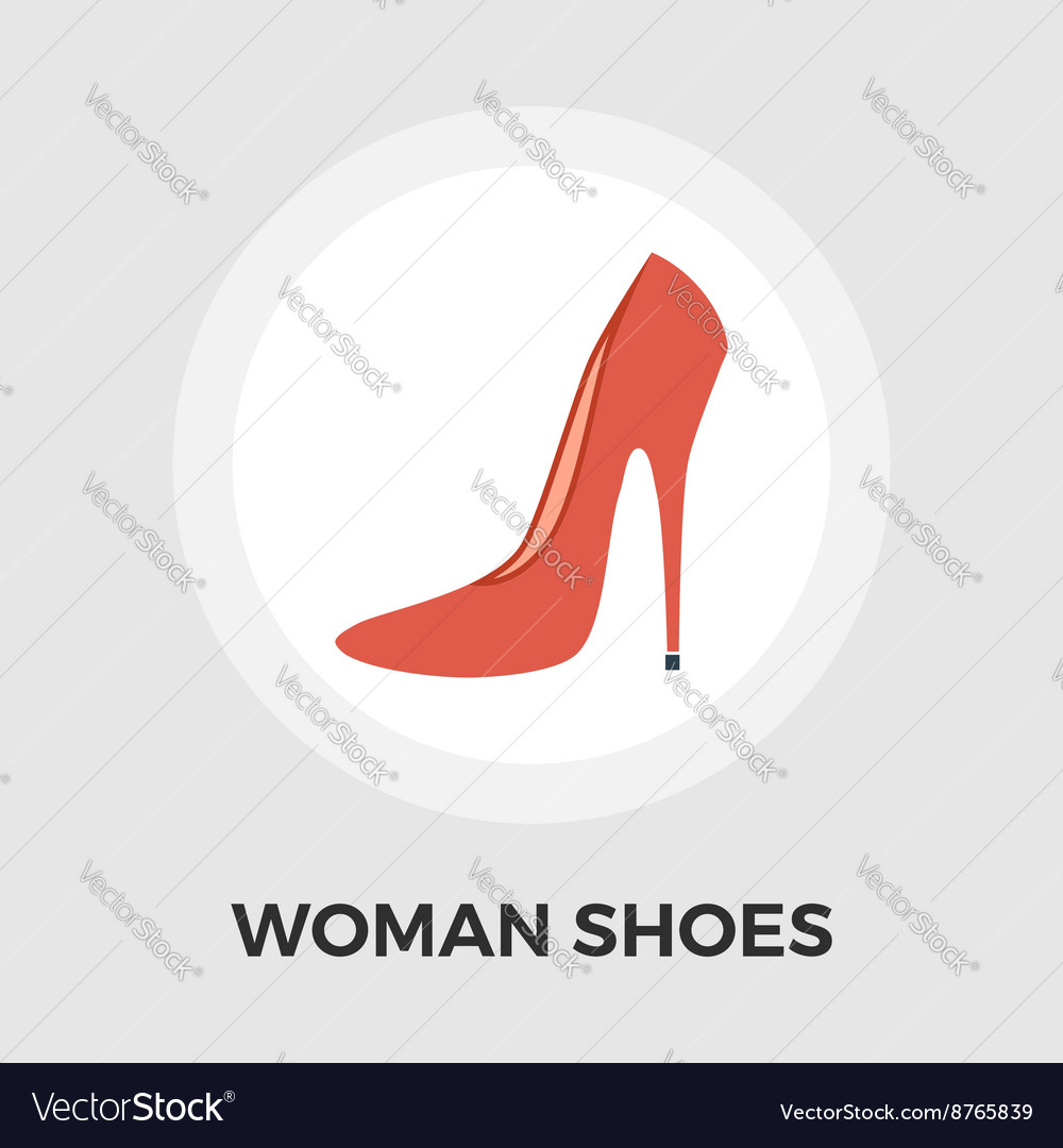 Woman shoes flat icon vector