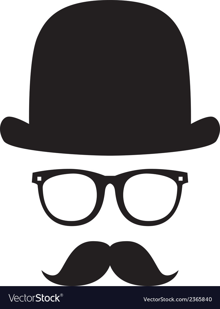 Gentleman portrait vector