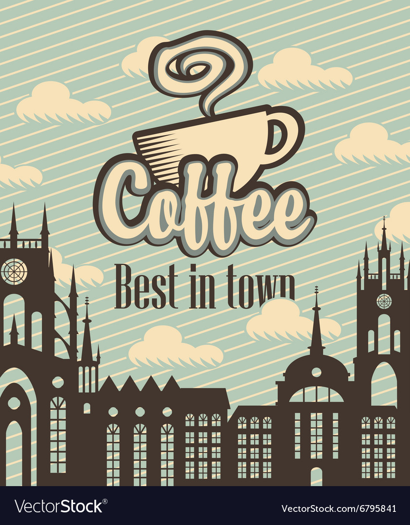 Banner with a cup of coffee vector