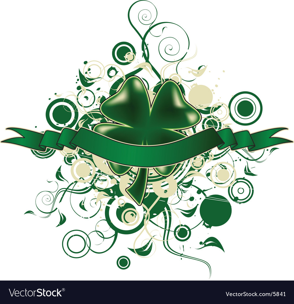 Four leaf clover design vector