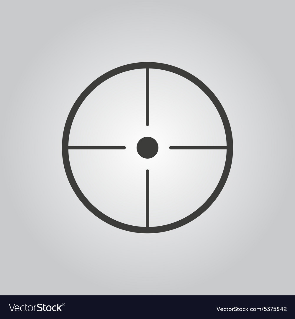 Crosshair icon search symbol flat vector