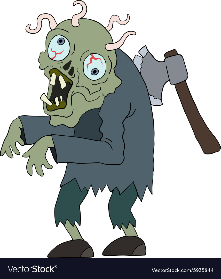 Zombie man cartoon character vector
