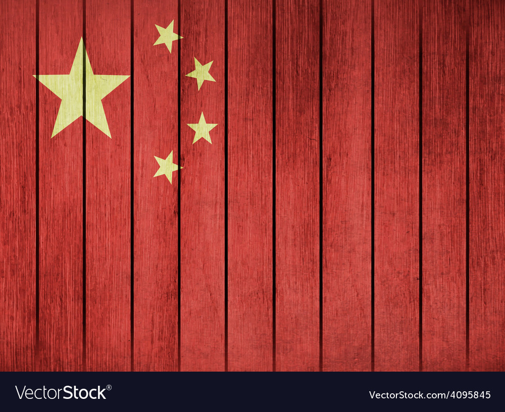 Grunge flag of china vector