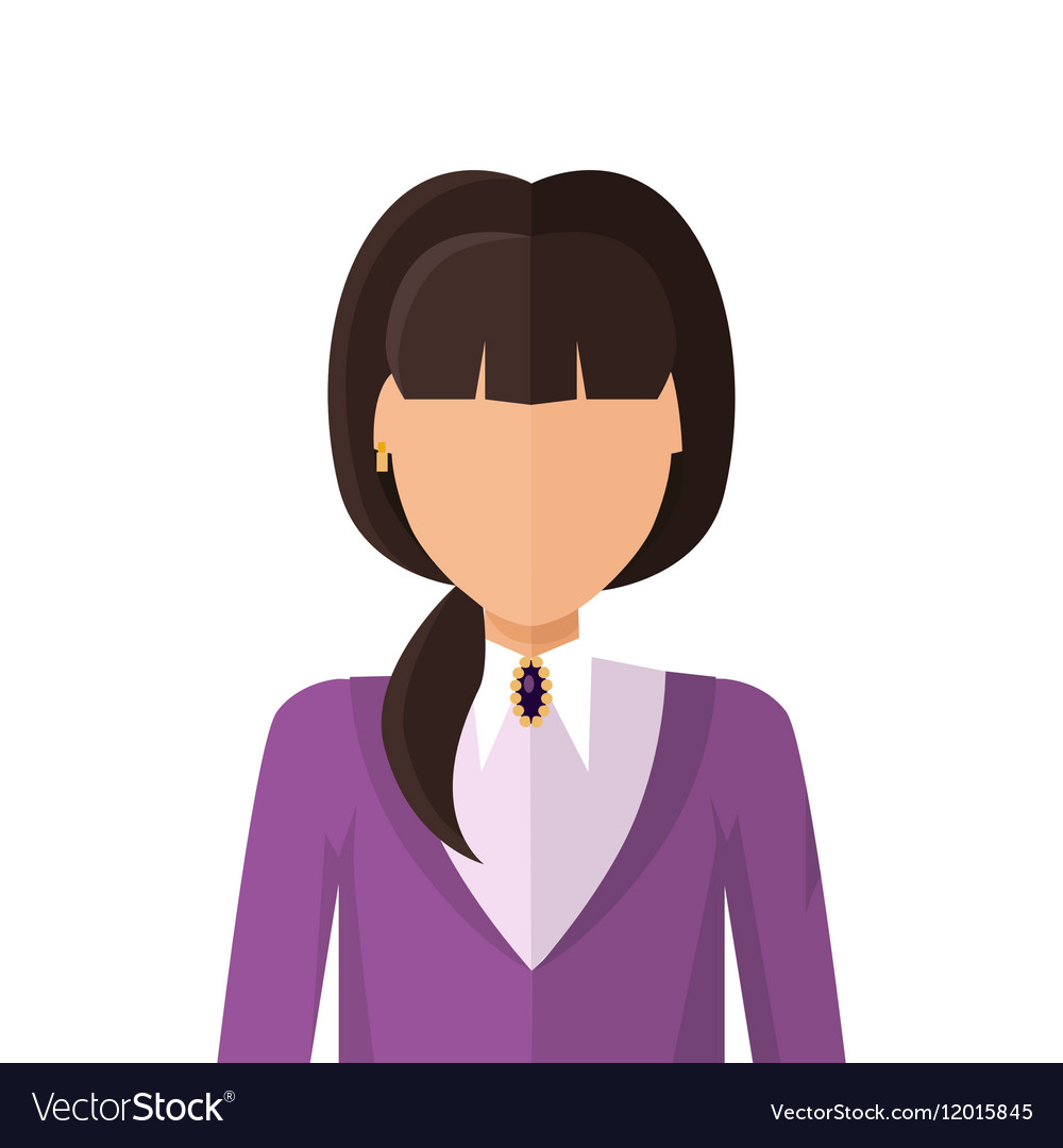 Woman character avatar in flat design vector