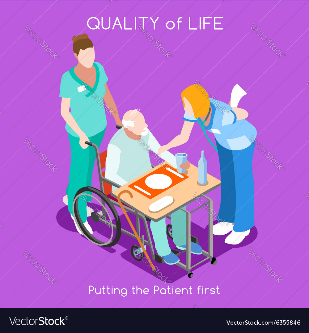 Hospital 04 people isometric vector