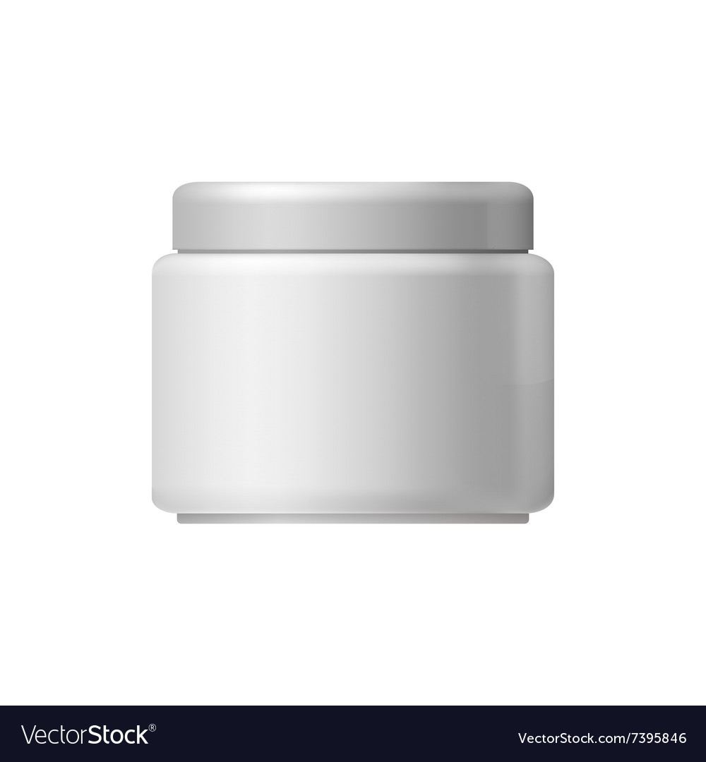 White blank cosmetic container vector