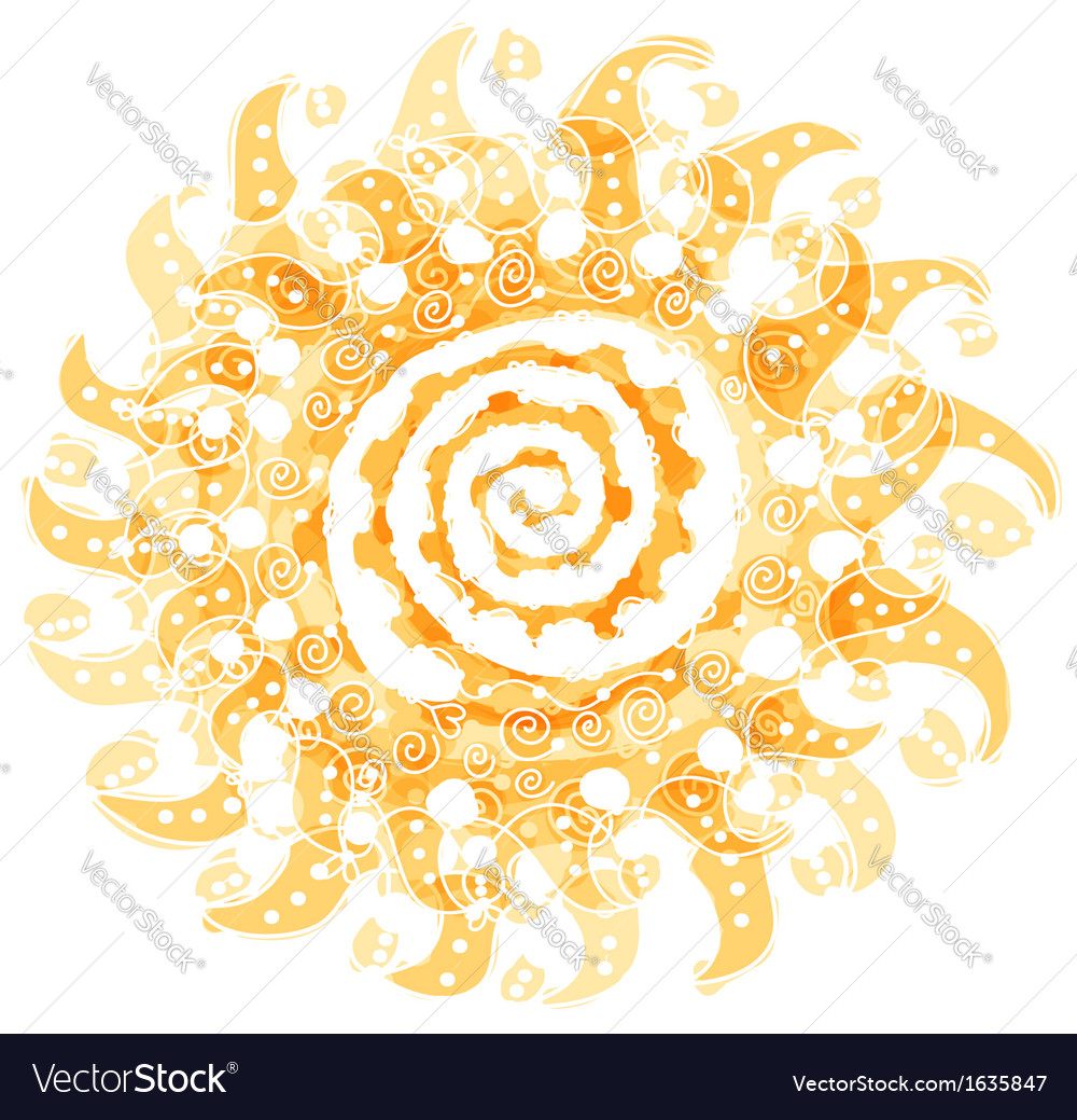 Abstract sun shape for your design vector