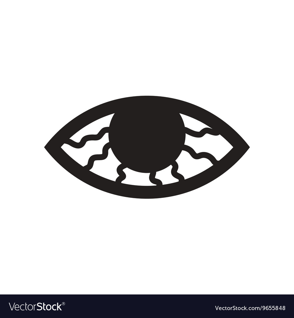 Flat icon in black and white style vision problems vector