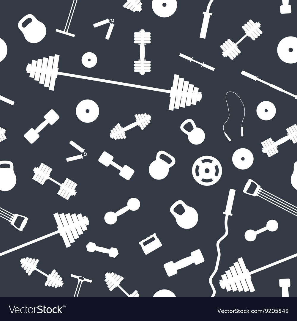 Seamless background from sports equipment vector
