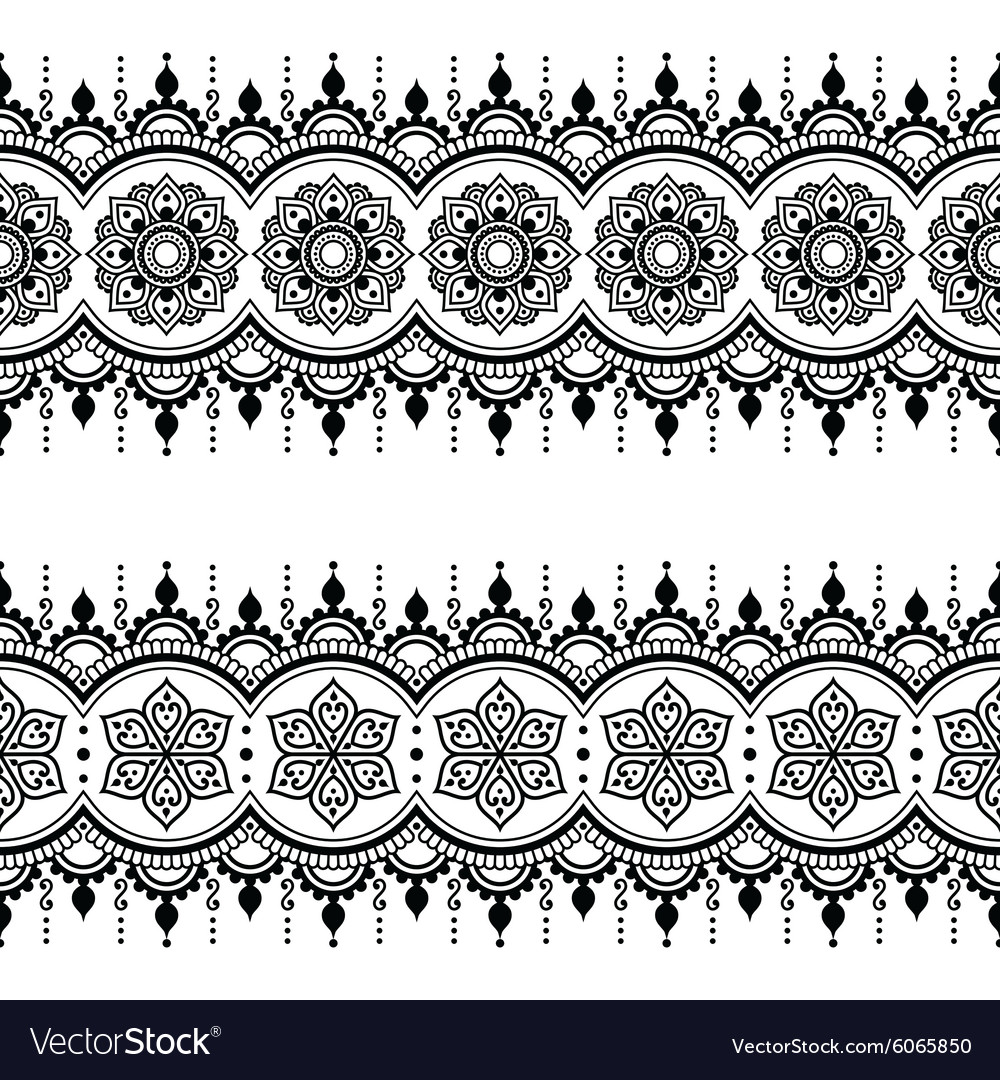 Indian seamless pattern design elements  mehndi vector