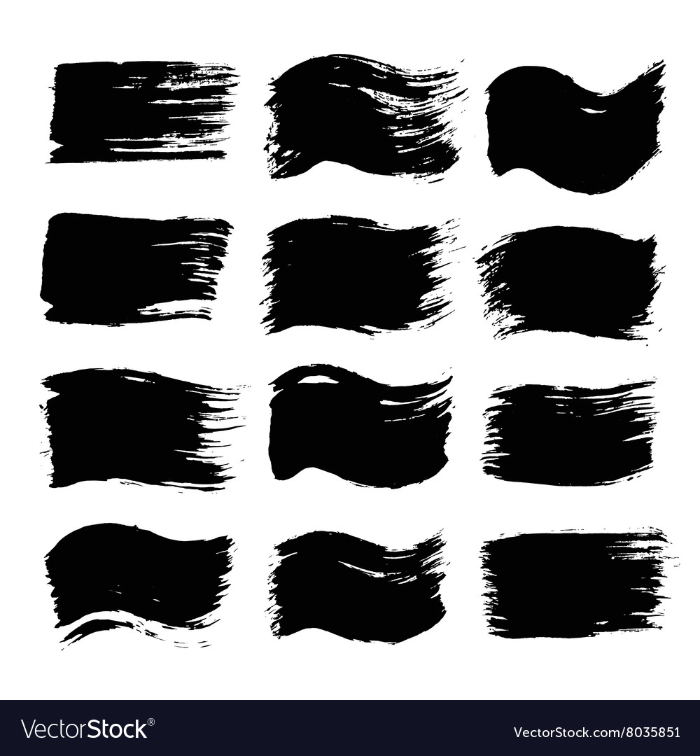 Black painted flags and backgrounds vector