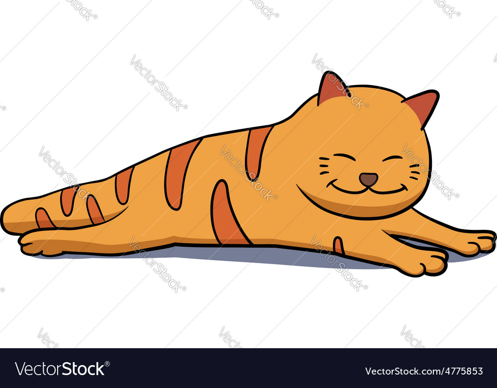 Lazy cat vector