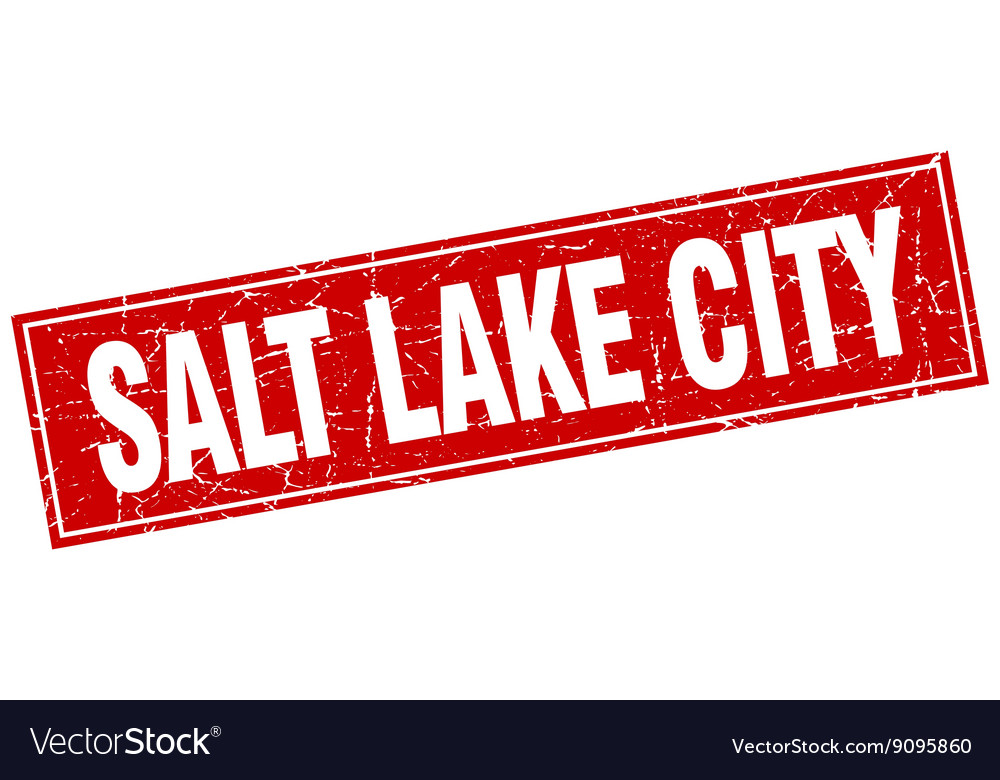 Salt lake city red square grunge vintage isolated vector